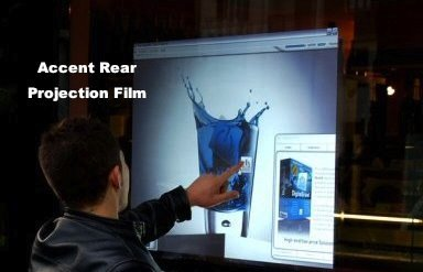 accent rear projection film touch film