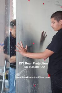 DIY Rear Projection Film Installation