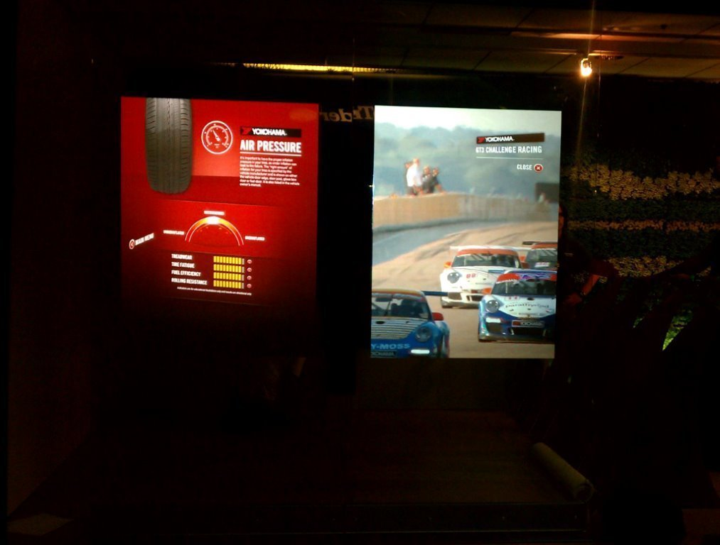 definition rear projection film indoor car display