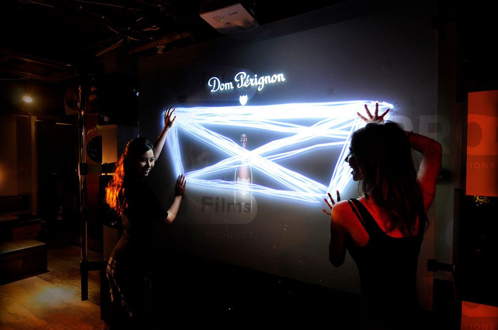 accent projection film interactive display