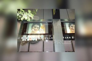 accent storefront rear projection film display