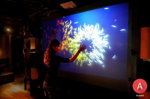 white rear projection film display