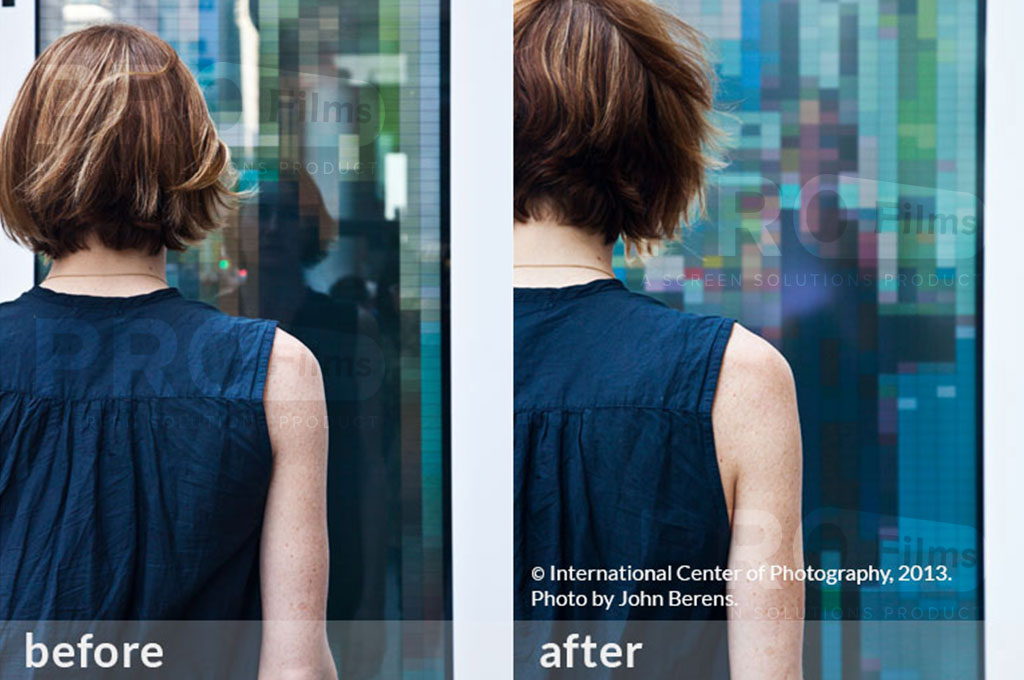 anti reflection film for- glass before and after