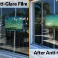 Anti glare film real estate touch screen display