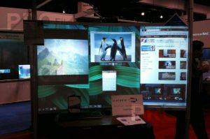definition pro rear projection film trade show display
