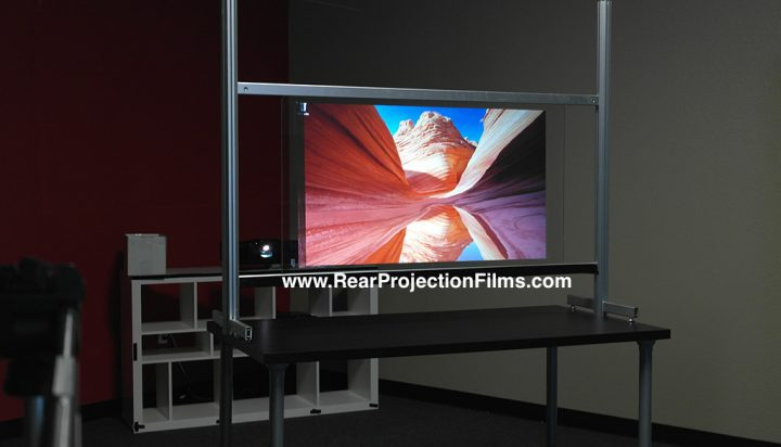Definition PRO rear projection film on glass