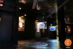multiple indoor intrigue film ceiling display