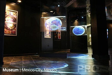 mexico museum clear intrigue rear projection film install