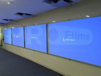 front projection film on glass corporate